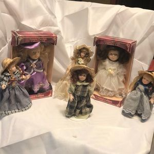 "Porcelain doll Lot 6/3-7""-3-6"""